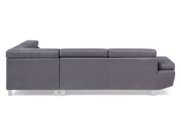 Narożnik lewostronny szary tapicerowany 5 osobowa sofa z regulowanymi zagłówkami W kształcie L Styl Nowoczesny
