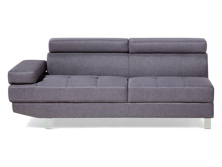Narożnik lewostronny szary tapicerowany 5 osobowa sofa z regulowanymi zagłówkami W kształcie L Nóżki Na nóżkach Kategoria Narożniki