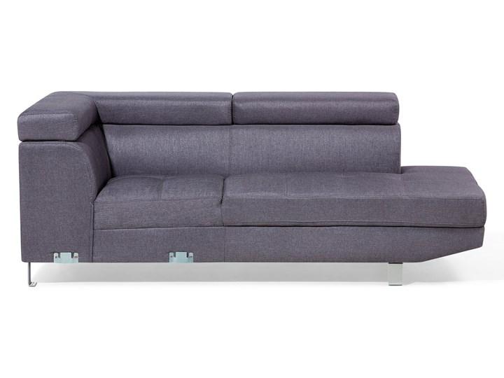 Narożnik lewostronny szary tapicerowany 5 osobowa sofa z regulowanymi zagłówkami W kształcie L Nóżki Na nóżkach Strona Lewostronne