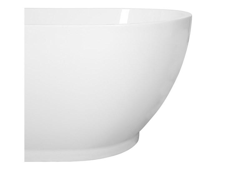 Wanna wolnostojąca biała akrylowa 167 x 82 cm owalna Wolnostojące Długość 173 cm Kolor Biały
