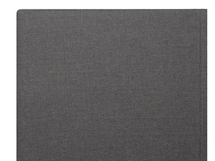 Łóżko ze stelażem szare tapicerowane materiałem z pojemnikiem 160 x 200 cm minimalistyczny wygląd Łóżko tapicerowane Kolor Szary Kategoria Łóżka do sypialni