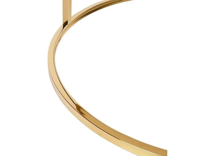 Stolik kawowy biały efekt marmuru złota stalowa rama 43 x 70 cm styl glam Płyta MDF Metal Kategoria Stoliki i ławy