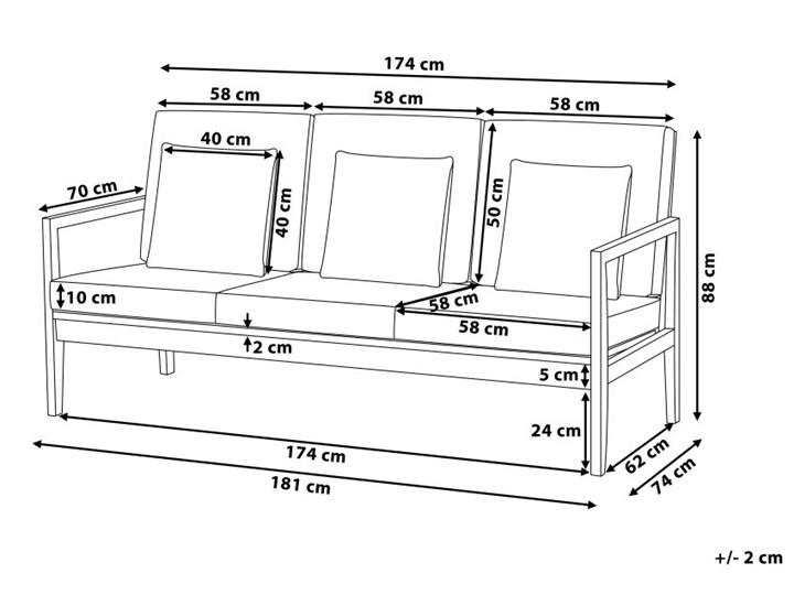 Zestaw ogrodowy szary jasne drewno akacjowe 2 ławki 1 fotel 1 leżak 1 stół poduchy retro Zestawy wypoczynkowe Tworzywo sztuczne Zawartość zestawu Fotele Zestawy kawowe Kategoria Zestawy mebli ogrodowych