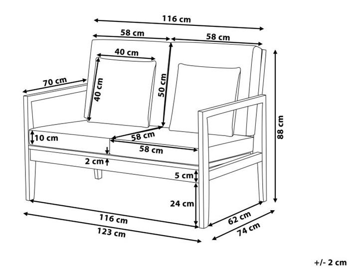 Zestaw ogrodowy szary jasne drewno akacjowe 2 ławki 1 fotel 1 leżak 1 stół poduchy retro Zestawy kawowe Zestawy wypoczynkowe Tworzywo sztuczne Styl Nowoczesny
