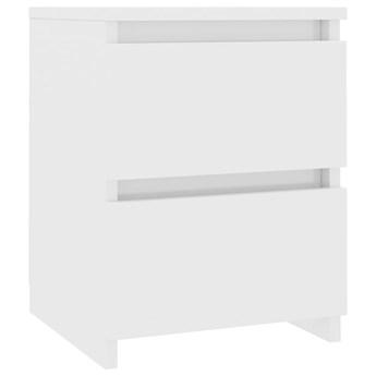 vidaXL Szafka nocna, biała, wysoki połysk, 30x30x40 cm, płyta wiórowa