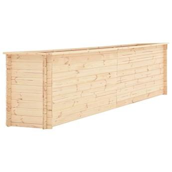 vidaXL Podwyższona donica, 450x50x80,5 cm, drewno sosnowe, 19 mm