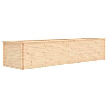 vidaXL Podwyższona donica, 450x100x80,5 cm, drewno sosnowe, 19 mm