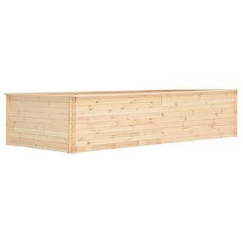 vidaXL Podwyższona donica, 450x150x80,5 cm, drewno sosnowe, 19 mm