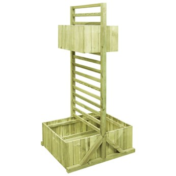 vidaXL Donica ogrodowa z kratką, impregnowane drewno sosnowe