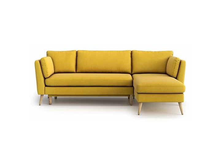 Narożnik Jane z szezlongiem i funkcją spania (uniwersalny), Canary Stała konstrukcja W kształcie L Rozkładanie Rozkładany Szerokość 248 cm Wysokość 92 cm Kolor Żółty