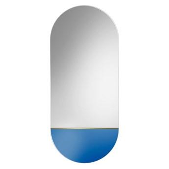 Lustro Novi niebieskie – owalne z kolorową wstawką