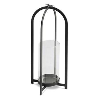 Szklany czarny świecznik Ø16 x 53 cm TOYJ19-162