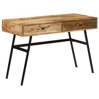 vidaXL Biurko z szufladami, lite drewno mango, 110 x 50 x 76 cm