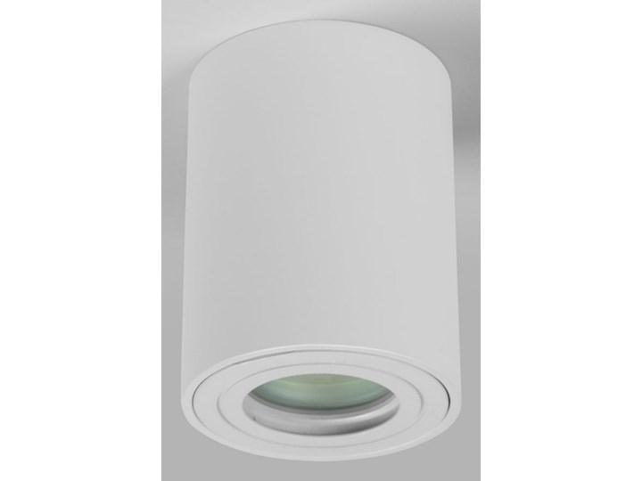 Sufitowa oprawa natynkowa IP65, okrągła, tuba, biały mat aluminiowa Okrągłe Oprawa stropowa Oprawa halogenowa Oprawa led Kategoria Oprawy oświetleniowe