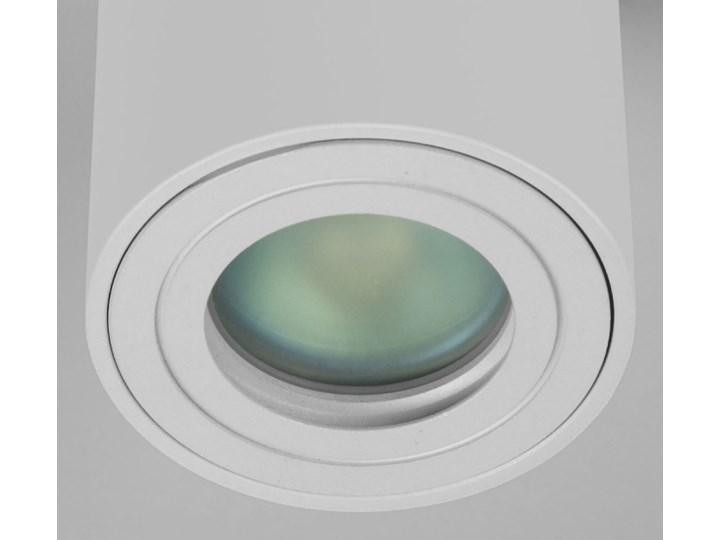 Sufitowa oprawa natynkowa IP65, okrągła, tuba, biały mat aluminiowa Okrągłe Oprawa halogenowa Oprawa stropowa Oprawa led Kategoria Oprawy oświetleniowe