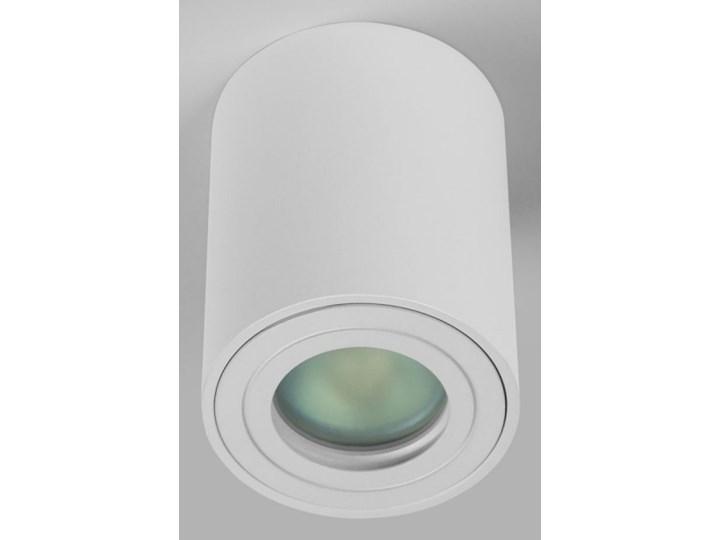 Sufitowa oprawa natynkowa IP65, okrągła, tuba, biały mat aluminiowa Oprawa halogenowa Okrągłe Oprawa stropowa Oprawa led Kategoria Oprawy oświetleniowe