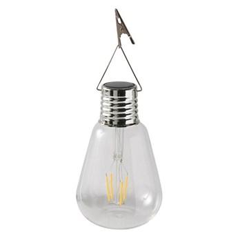 Lampka solarna żarówka szklana klips