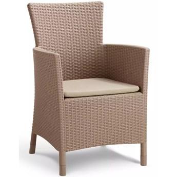 Allibert Krzesło ogrodowe Iowa, cappuccino, 215519