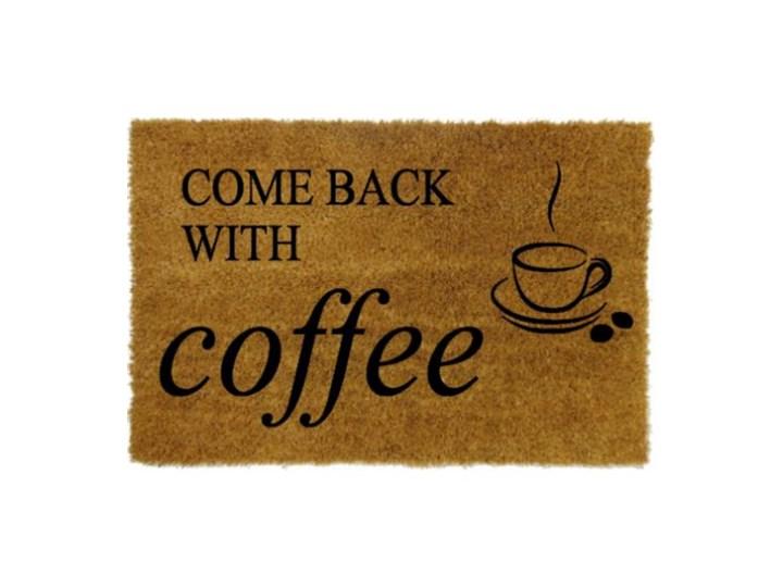 Wycieraczka z napisem Come Back With Coffee Kategoria Wycieraczki Włókno kokosowe Kolor Brązowy