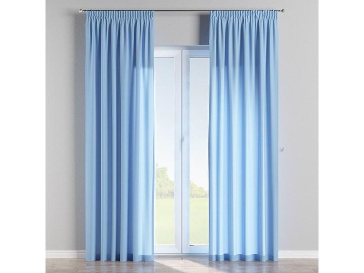 Zasłona na taśmie marszczącej 1 szt., niebieski, 1szt 130 × 260 cm, Loneta Zasłona zaciemniająca Bawełna 130x260 cm Poliester Wzór Gładkie
