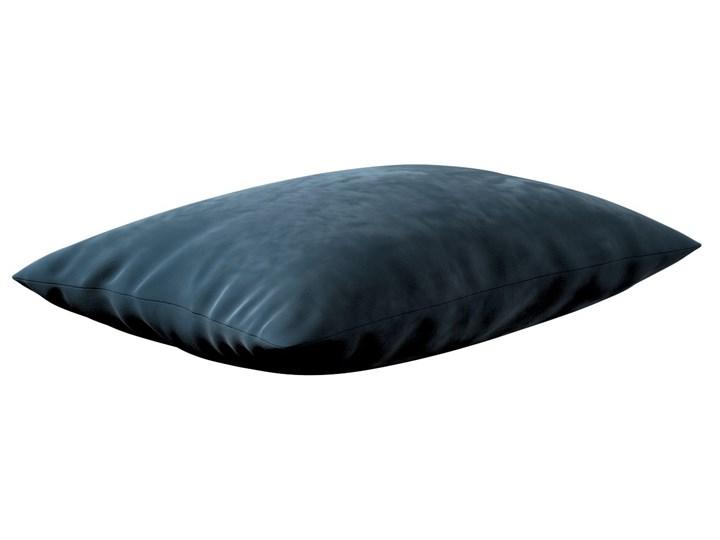 Poszewka Kinga na poduszkę prostokątną, pruski błękit, 60 × 40 cm, Velvet Poliester Poszewka dekoracyjna 40x60 cm Prostokątne Kolor Granatowy 45x65 cm Wzór Jednolity