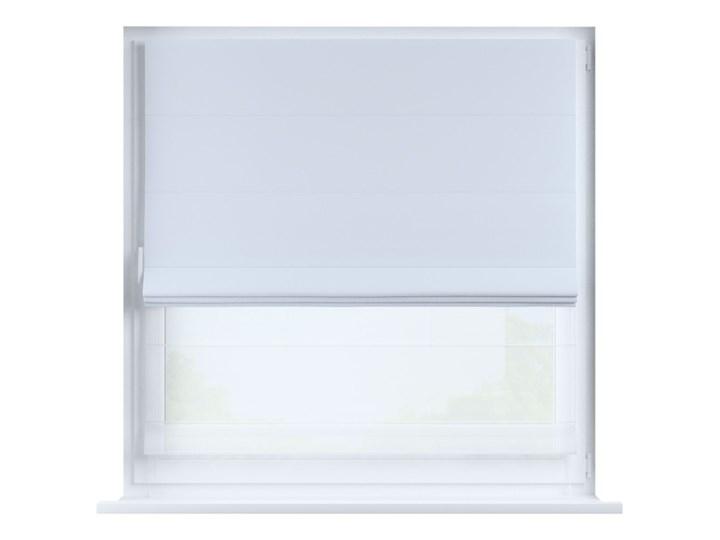 Roleta rzymska Duo, szaro-biały, szer.130 × dł.170 cm, Blackout - zaciemniające Wzór Gładkie Roleta woalowa Typ Roleta transparentna