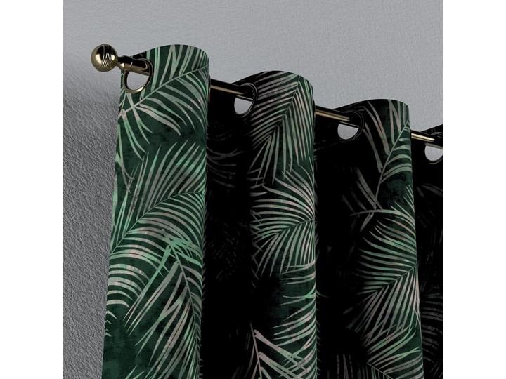Zasłona na kółkach 1 szt., zielony w liście, 1szt 130 × 260 cm, Velvet Zasłona prześwitująca Poliester 130x260 cm Mocowanie Taśma Kolor Khaki