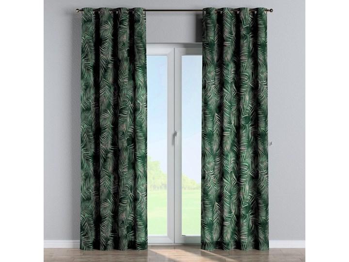 Zasłona na kółkach 1 szt., zielony w liście, 1szt 130 × 260 cm, Velvet 130x260 cm Zasłona prześwitująca Poliester Kolor Czarny