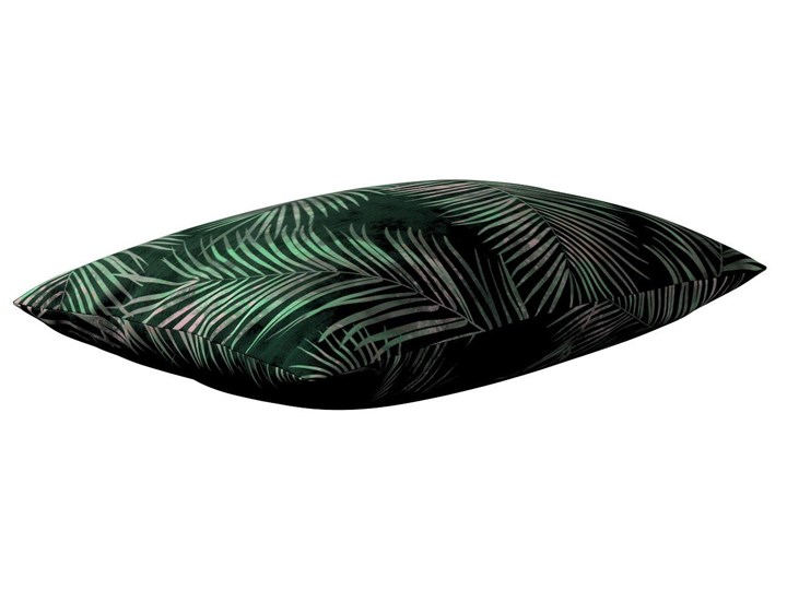 Poszewka Kinga na poduszkę prostokątną, zielony w liście, 60 × 40 cm, Velvet 45x65 cm Poszewka dekoracyjna Poliester 40x60 cm Prostokątne Wzór Roślinny