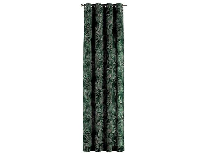 Zasłona na kółkach 1 szt., zielony w liście, 1szt 130 × 260 cm, Velvet Poliester Kolor Khaki 130x260 cm Zasłona prześwitująca Wzór Kwiaty