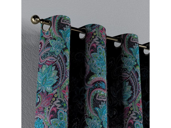 Zasłona na kółkach 1 szt., wielokolorowy paisley, 1szt 130 × 260 cm, Velvet 130x260 cm Zasłona prześwitująca Kategoria Zasłony