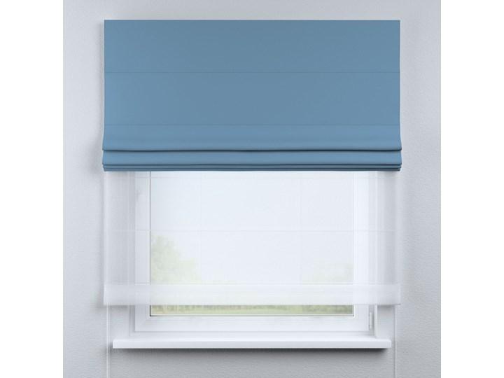 Roleta rzymska Duo, niebieski, szer.130 × dł.170 cm, Blackout - zaciemniające Roleta woalowa Typ Roleta transparentna Kolor Czarny