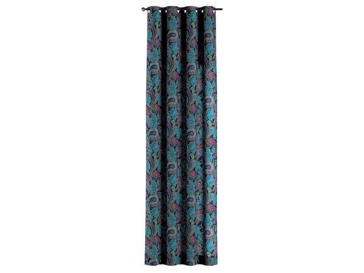 Zasłona na kółkach 1 szt., wielokolorowy paisley, 1szt 130 × 260 cm, Velvet 130x260 cm Zasłona prześwitująca Mocowanie Taśma