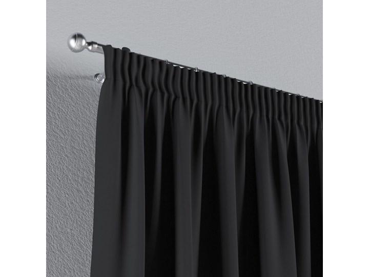 Zasłona zaciemniająca na taśmie 1 szt., czarny, 1szt 140 × 260 cm, Blackout - zaciemniające Poliester 140x260 cm Wzór Gładkie Zasłona prześwitująca Mocowanie