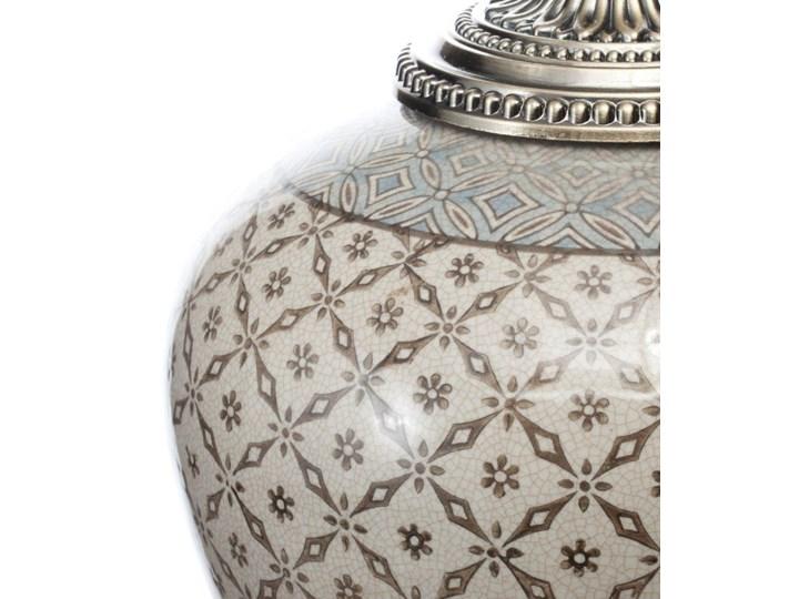 Waza ceramiczna Shiho z pokrywką 36cm, 36 cm Kategoria Wazony Metal Ceramika Kolor Szary