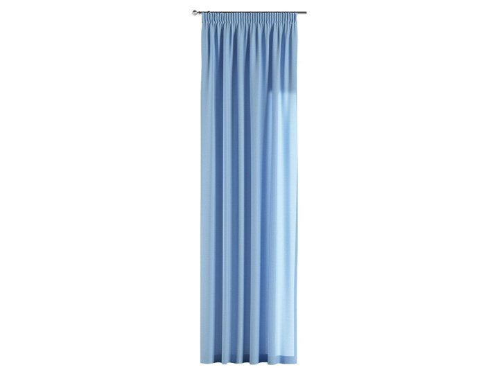 Zasłona na taśmie marszczącej 1 szt., niebieski, 1szt 130 × 260 cm, Loneta Mocowanie Taśma Zasłona zaciemniająca Bawełna 130x260 cm Poliester Pomieszczenie Pokój nastolatka