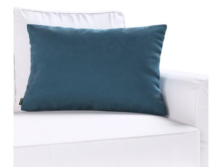Poszewka Kinga na poduszkę prostokątną, pruski błękit, 60 × 40 cm, Velvet Poszewka dekoracyjna Poliester Prostokątne 45x65 cm 40x60 cm Wzór Jednolity