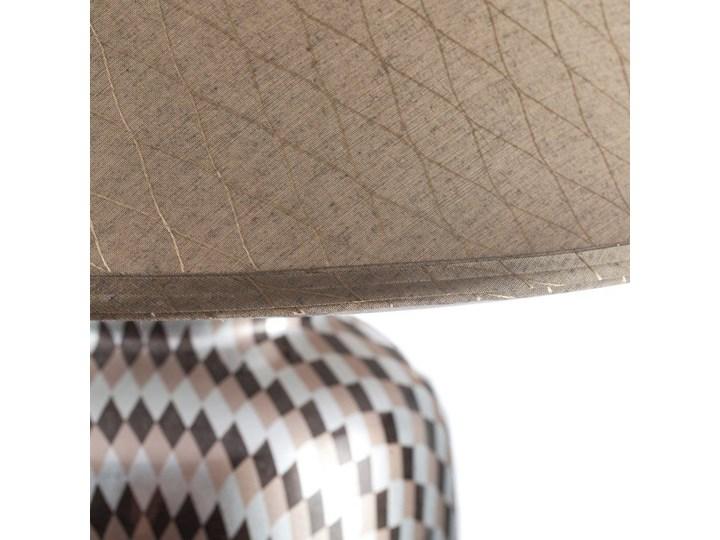 Lampa stołowa Maiko ceramiczna 71cm, 71 cm Lampa z kloszem Kolor Srebrny Kategoria Lampy stołowe