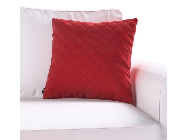 Poszewka Kinga pikowana 43 x 43 cm, intensywna czerwień, 43 × 43 cm, Velvet 43x43 cm Pomieszczenie Salon Poszewka dekoracyjna Poliester Kwadratowe Kolor Czerwony