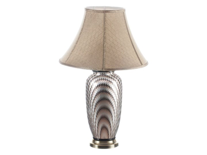 Lampa stołowa Maiko ceramiczna 71cm, 71 cm Lampa z kloszem Kolor Srebrny