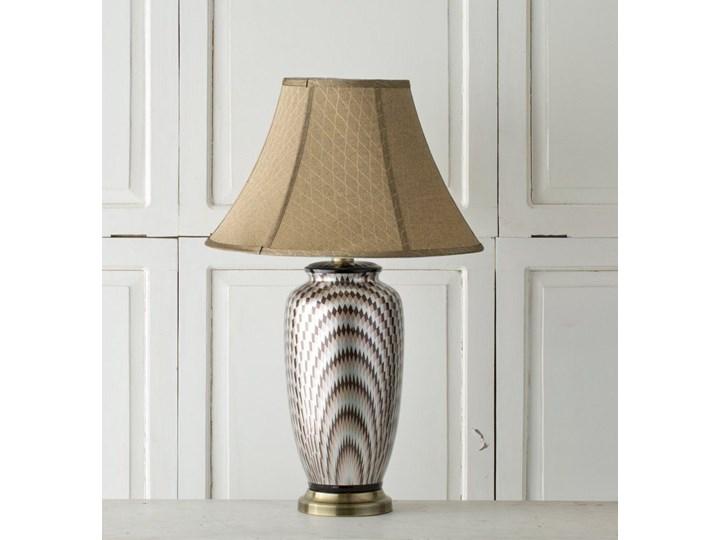 Lampa stołowa Maiko ceramiczna 71cm, 71 cm Lampa z kloszem Kolor Srebrny Kolor Beżowy