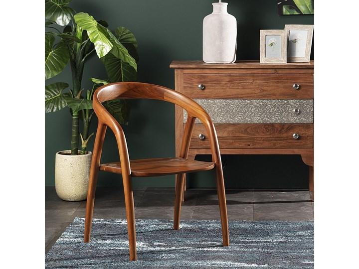 Krzesło Arista, 55 x 53 x 79 cm Drewno Z podłokietnikiem Styl Nowoczesny