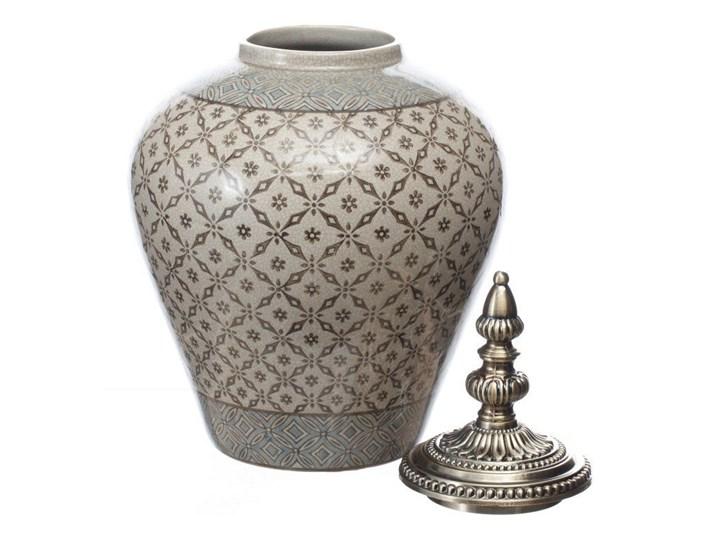 Waza ceramiczna Shiho z pokrywką 36cm, 36 cm Ceramika Metal Kategoria Wazony