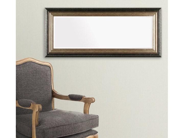 Lustro Romane 46x107cm, 46 × 107 cm Lustro z ramą Kolor Złoty Ścienne Prostokątne Pomieszczenie Salon