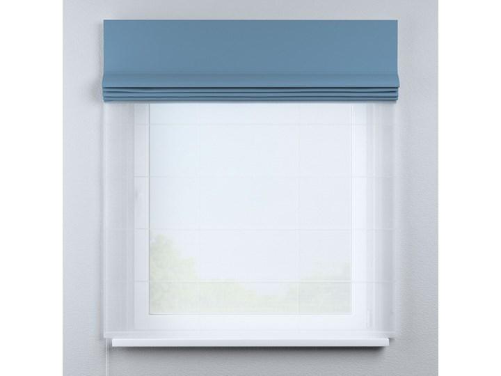 Roleta rzymska Duo, niebieski, szer.130 × dł.170 cm, Blackout - zaciemniające Pomieszczenie Pokój nastolatka Roleta woalowa Typ Roleta transparentna