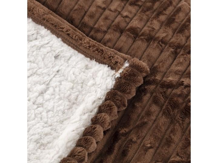 Narzuta Andora Brown 230x200cm, 230 x 200 cm Wełna 200x230 cm Poliester Kategoria Koce i pledy Pled Pomieszczenie Sypialnia