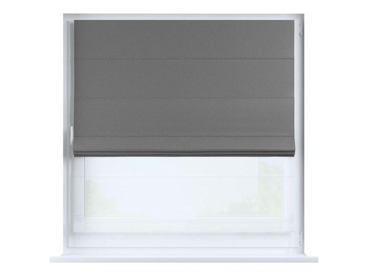Roleta rzymska Duo, ciemny szary o wyraźnej strukturze, szer.130 × dł.170 cm, Blackout - zaciemniające Pomieszczenie Pokój nastolatka Roleta woalowa Typ Roleta transparentna