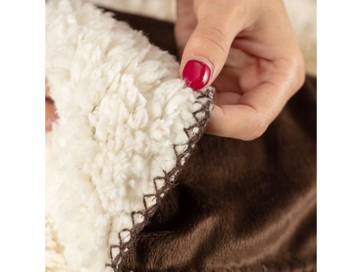 Pled Wolle brown 130x160cm, 130×160cm 130x160 cm Kolor Beżowy Bawełna Poliester 130x170 cm Wełna Wzór Jednolity