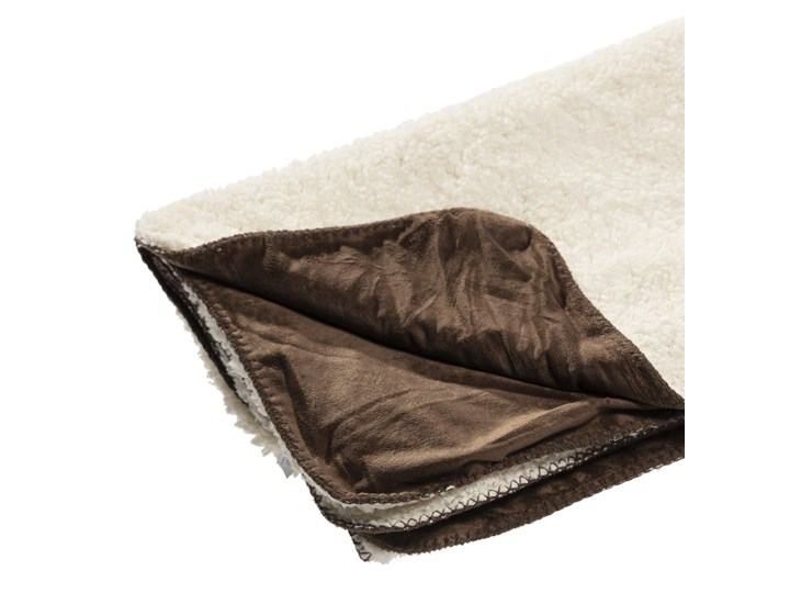 Pled Wolle brown 130x160cm, 130×160cm 130x170 cm 130x160 cm Wełna Kolor Beżowy Poliester Bawełna Kategoria Koce i pledy