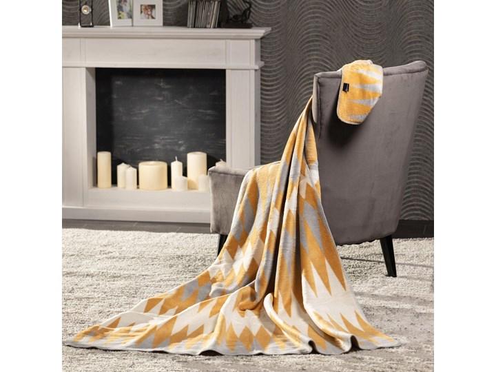 Koc Cotton Cloud 150x200cm India, 150×200cm Wzór Z nadrukiem Akryl 150x200 cm Bawełna Kolor Pomarańczowy